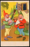 B8702 - Glückwunschkarte - Geburtstag - Zwerg Heinzelmännchen Mandoline - Birthday