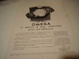 ANCIENNE PUBLICITE  MONTRE LA PLUS RECHERCHE  OMEGA  1950 - Autres