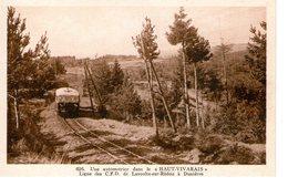 HAUT-VIVARAIS  -  Automotrice - Ligne Des C.F.D. De Lavoulte-sur-Rhône à Dunières - Frankreich