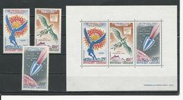 GABON  Scott C92-C94, C94a YvertPA94-PA96, BF15 ** (3+bloc) Cote 15,00  $ 1970 - Gabon (1960-...)