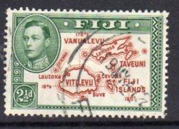 Fiji GVI 1938-55 2½d Brown & Green, Die II (with 180), P.13½, Used, SG 256b - Fiji (...-1970)