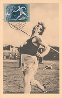D35553 CARTE MAXIMUM CARD 1950 HUNGARY - JAVELIN ATHLETICS CP ORIGINAL - Athletics