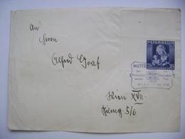 Austria Cover Postmark Muttertagfeier Des Mutterschutz Werkes Der Vaterländichen Front Wien 7. Mai 1936 Stamp Muttertag - Storia Postale