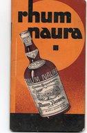 CALEPIN DE BISTRO DE BAR DE CAFE CARNET DE COMMANDE Rhum Naura CALENDRIER 1933 - Autres Collections
