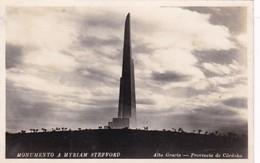 MONUMENTO A MYRIAM STEFFORD. ALTA GRACIA, PROVINCIA DE CORDOBA. IMP SARMIENTO, ARGENTINE CIRCA 1940s- BLEUP - Argentinië