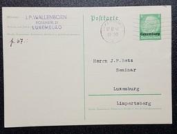 Luxembourg 1940 Postkarte - 1940-1944 Duitse Bezetting