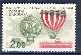 +D3116. French Andorra 1983. Air Trafic. Michel 331. MNH(**) - Ungebraucht