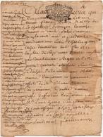 Acte Jugement Dubois Bailly Vouzon Manuscrit Litige Gitton Duffié Cachet Généralité D'Orléans Seize Den 1737 4pages - Manuscripten