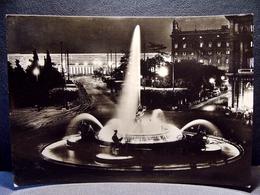 (FG.M12) ROMA - PIAZZA ESEDRA E STAZIONE TERMINI Di Notte (viaggiata 1958) - Places & Squares