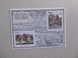 2012  F4704 P4704/4705 * *  LES GRANDES HEURES DE L HISTOIRE DE FRANCE CLOVIS LUXE - Bloc De Notas & Hojas
