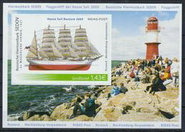 Deutschland Ridas Bl. 'HanseSail, Ostmolenfeuer Warnemünde' / Germany M/s 'Warnemünde East Mole Lighthouse' **/MNH 2005 - Lighthouses