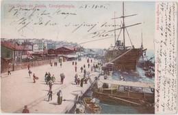 TURKEY - CONSTANTINOPLE, LES QUAIS DE GALATA - Turchia