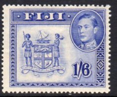 Fiji GVI 1938-55 1/6d Ultramarine, P.14, Hinged Mint, SG 263a - Fiji (...-1970)