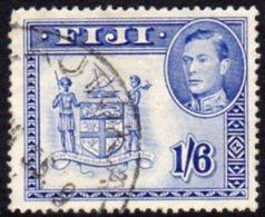 Fiji GVI 1938-55 1/6d Ultramarine, P.13, Used, SG 263ab - Fiji (...-1970)