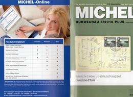 Rundschau MICHEL Briefmarken 4/2018-plus Neu 6€ New Stamps World Catalogue/magacine Of Germany ISBN 978-3-95402-600 - Tedesco