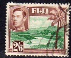 Fiji GVI 1938-55 2/6d Green & Brown, P.13, Used, SG 265 - Fiji (...-1970)