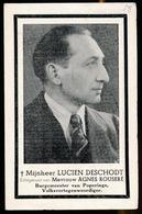 BURGEMEESTER POPERINGE - LUCIEN DESCHODT - POPERINGE 1906 - 1947  - 2 SCANS - Décès
