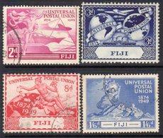 Fiji GVI 1949 UPU Set Of 4, Used, SG 272/5 - Fiji (...-1970)