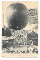 STENAY  (cpa 55)  Ascension D'un Ballon De 400 Mètres Cubes Monté Par L'aéronaute LANGLOIS   # RARE #   -   L 1 - Stenay