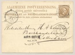 Nederlands Indië - 1884 - 7,5 Cent Briefkaart G5 Van KR Benkoelen Over Napels Naar Rotterdam / Nederland - Niederländisch-Indien