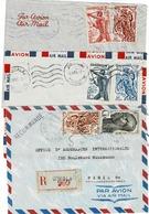 TP Entre 289 Et 294 Sur  3 Devant D'enveloppes Dont 1 En Recommandé - Cameroun (1915-1959)