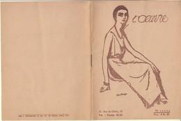 """THEATRE DE L'OEUVRE-PROGRAMME PIECE """"L'ANNONCE FAITE A MARIE"""" DE PAUL CLAUDEL 1942 - BON ETAT - Programme"""
