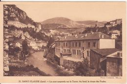 CPA - 21. SAINT CLAUDE  - Le Pont Suspendu Sur Le Tacon - Saint Claude