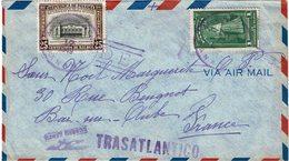 CTN54A PANAMA LETTRE AVION POUR BAR SUR AUBE 17/1/1949 - Panama
