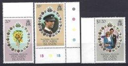Pitcairn  Yv & T 202/04 , Mariage Royal Prince Charles Et De Lady Diana  ** Mnh - Pitcairn