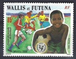 Wallis Et Futuna Yv & T 343, Coupe Du Monde De Football Mexico 1986,Unicef  ** Mnh - Wallis-Et-Futuna