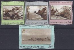 Pitcairn  Yv & T 291/94  Tableaux,vues De L'ile   ** Mnh - Pitcairn