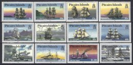 Pitcairn  Yv & T 297/308  Série Courante Bateaux 12 Valeurs   ** Mnh - Pitcairn