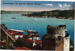 TURKEY - CONSTANTINOPLE, VUE PRISE DES CHATEAUX D`EUROPE - Turchia
