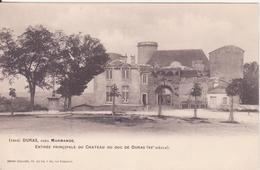 CPA - 1414. DURAS Près MARMANDE Entrée Principale Du Château - Marmande