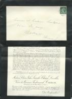Paris - F.P. Décès De Mme Claire Julie Sainte Claire Deville Vve De M FERDINAND CARON LE 24/02/1914 -   Modb14207 - Obituary Notices