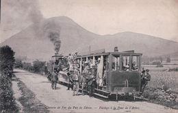 Chemin De Fer Du Puy De Dôme Passage à La Font De L'Arbre - Treni