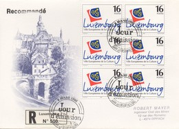RE67   Recommandé  FDC Ville Européenne De La Culture 1995   TTB - Luxembourg