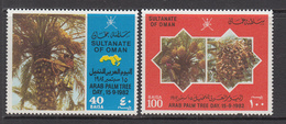 1982 Oman  Arab Palm Day Coconuts, Dates Set Of 2  MNH - Oman