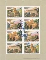 Tajikistan 2018 WWF Reed Cat OVPT On 2002 Minisheet MNH - Tajikistan