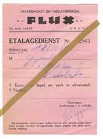 Wijnegem: 1950; N.V. FLUX  Havermout- En Meelfabrieken. - 1950 - ...