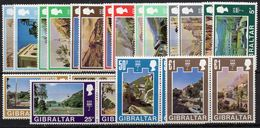 GIBRALTAR : G180  -  1971  22 Mint Pieces Of Set , Very Light Hinged , With 4 Top Pairs - Gibilterra