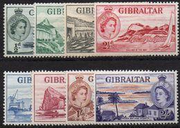 GIBRALTAR : G181  -  1953  8 Mint Pieces Of Set , To  2/. - Gibilterra