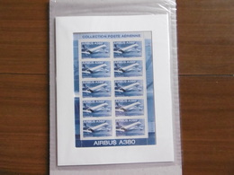 2006    PA69 * *  FEUILLET  F69a    AVION AIRBUS A380  SOUS BLISTER - Luftpost