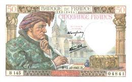 Billets > France > 50 Francs 1941 (comme Neuf) - 1871-1952 Anciens Francs Circulés Au XXème