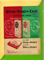 PROTEGE CAHIER : Sirop Vosges CAZE  Cachet : Bauduns WORMHOUT (Bibi Fricotin ) Signe Pierre Lacroix - Protège-cahiers