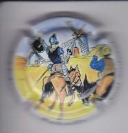 PLACA DE CAVA BALCELLS DE DON QUIJOTE CON UN MOLINO (MOULIN-MILL) (CAPSULE) CABALLO-HORSE - Placas De Cava