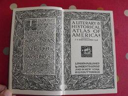 A Literary & Historical Atlas Of America. Bartholomew. Dent, London, 1912 - Europe