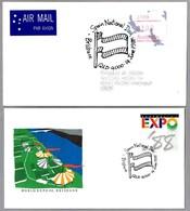 EXPO'88 BRISBANE, AUSTRALIA. Set 2 Cancels Of SPAIN NATIONAL DAY - DIA DE ESPAÑA. Brisbane Qld 1988 - Exposiciónes Universales