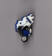 Pin's Police / Motard Gendarmerie De La Meuse (EGF Argenté) Version Bleu - Police