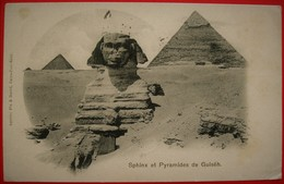 EGYPT - SPHINX AT PYRAMIDES GIZEH - Gizeh